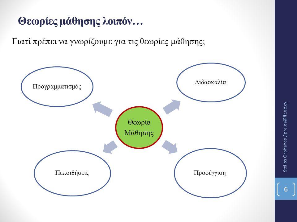 Θεωρίες μάθησης λοιπόν…