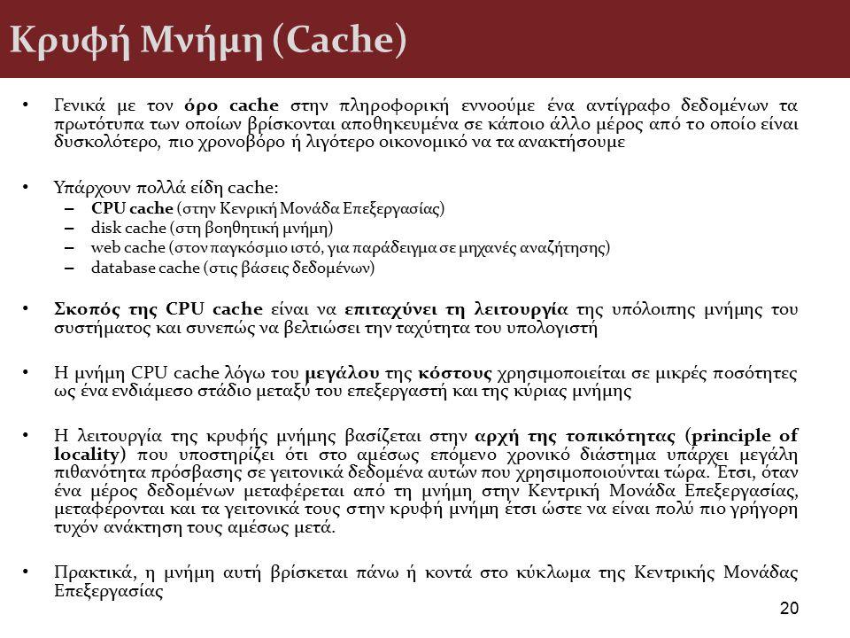 Κρυφή Μνήμη (Cache)
