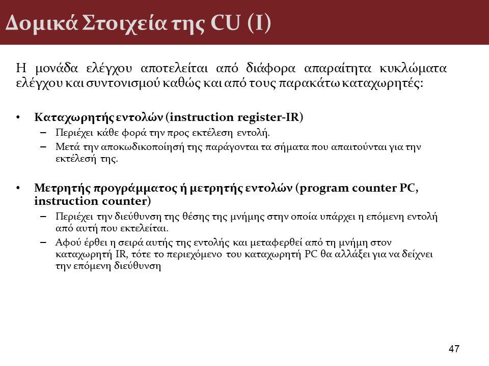 Δομικά Στοιχεία της CU (I)