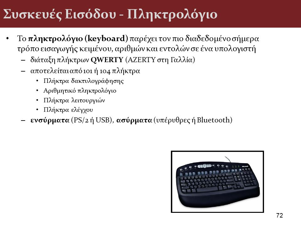 Συσκευές Εισόδου - Πληκτρολόγιο