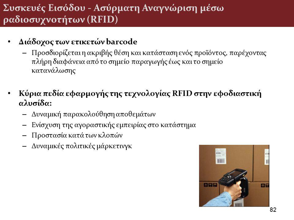 Συσκευές Εισόδου - Ασύρματη Αναγνώριση μέσω ραδιοσυχνοτήτων (RFID)