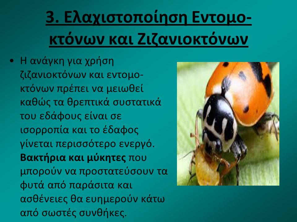 3. Ελαχιστοποίηση Εντομο-κτόνων και Ζιζανιοκτόνων
