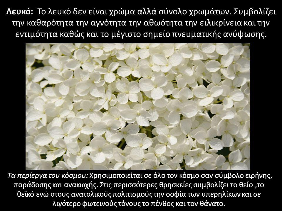 Λευκό: Το λευκό δεν είναι χρώμα αλλά σύνολο χρωμάτων