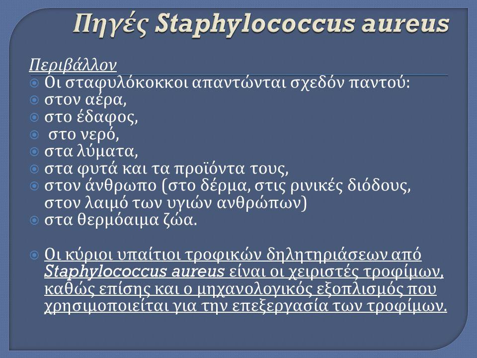 Πηγές Staphylococcus aureus