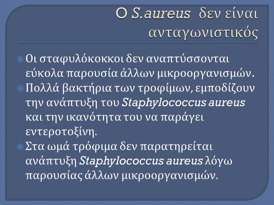 O S.aureus δεν είναι ανταγωνιστικός