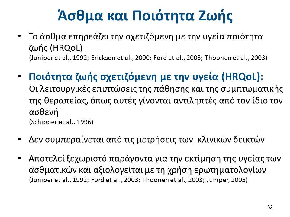 Ερωτηματολόγια αξιολόγησης της HRQoL