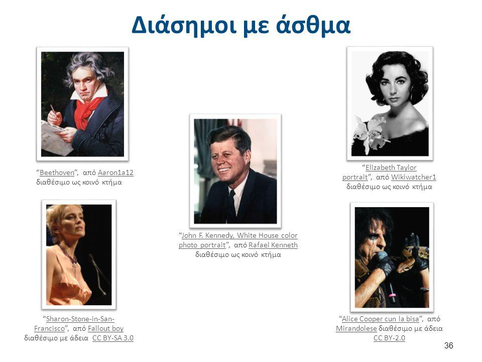 Διάσημοι με άσθμα (συνέχεια)