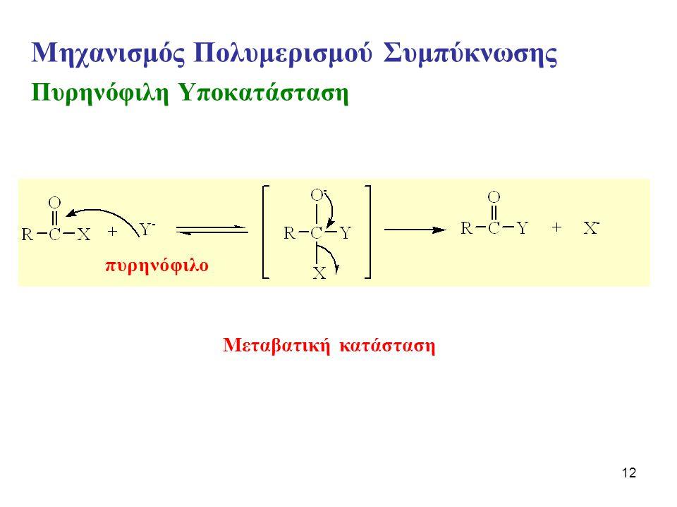 Μηχανισμός Πολυμερισμού Συμπύκνωσης