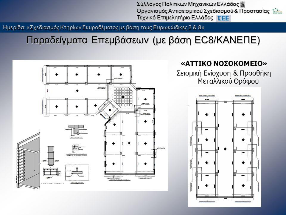 Παραδείγματα Επεμβάσεων (με βάση EC8/ΚΑΝΕΠΕ)