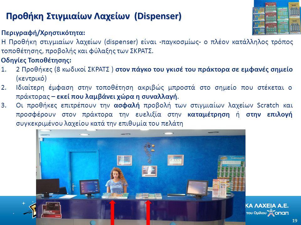Προθήκη Στιγμιαίων Λαχείων (Dispenser)
