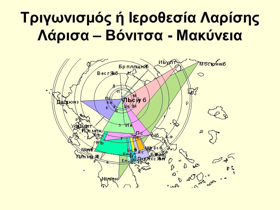 Τριγωνισμός ή Ιεροθεσία Λαρίσης Λάρισα – Βόνιτσα - Μακύνεια