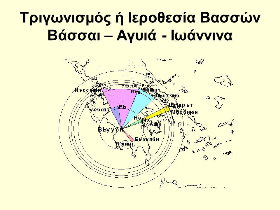 Τριγωνισμός ή Ιεροθεσία Βασσών Βάσσαι – Αγυιά - Ιωάννινα