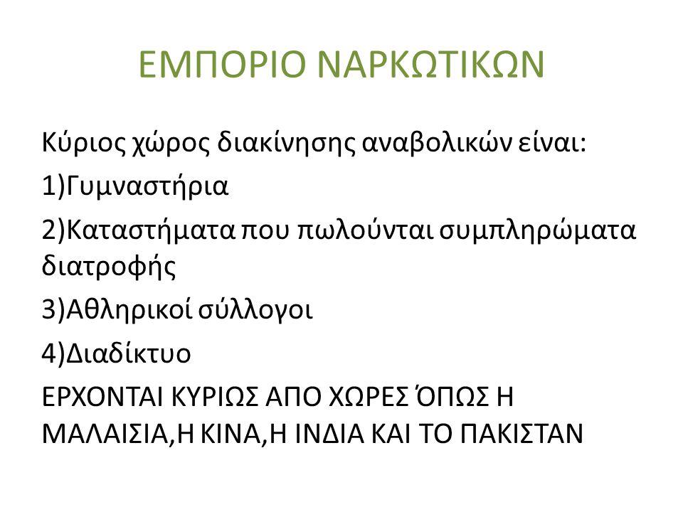 ΕΜΠΟΡΙΟ ΝΑΡΚΩΤΙΚΩΝ