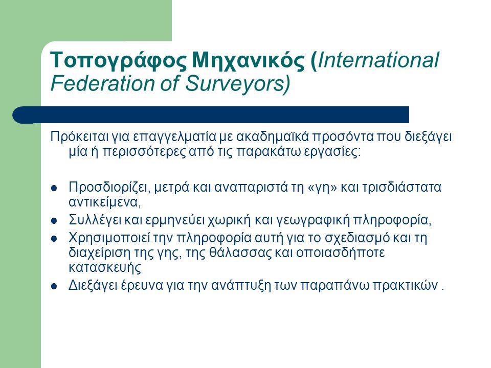 Τοπογράφος Μηχανικός (International Federation of Surveyors)