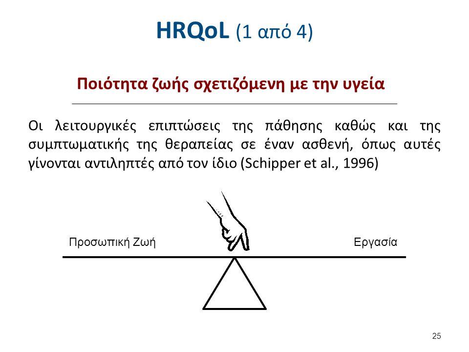 HRQoL (2 από 4) Ερωτηματολόγια αξιολόγησης HRQoL Υπάρχουν δύο τύποι: