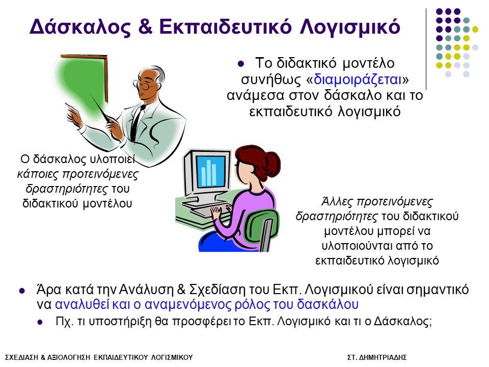 Δάσκαλος & Εκπαιδευτικό Λογισμικό