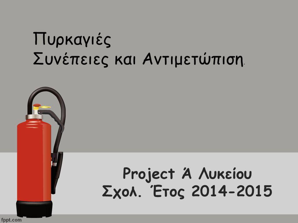 Project Ά Λυκείου Σχολ. Έτος 2014-2015