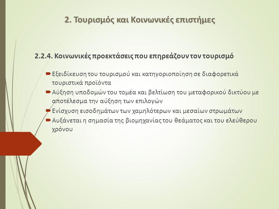 2. Τουρισμός και Κοινωνικές επιστήμες