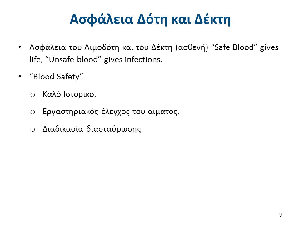 Πριν και Μετά την Αιμοδοσία