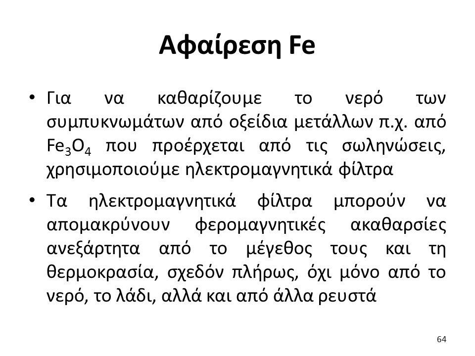 Αφαίρεση Fe