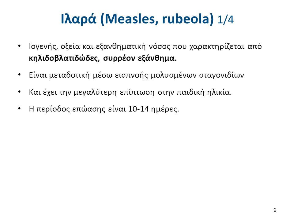Ιλαρά (Measles, rubeola) 2/4