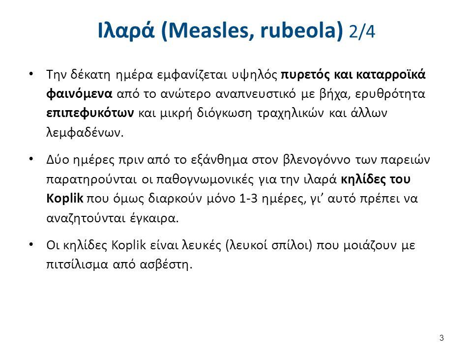 Ιλαρά (Measles, rubeola) 3/4