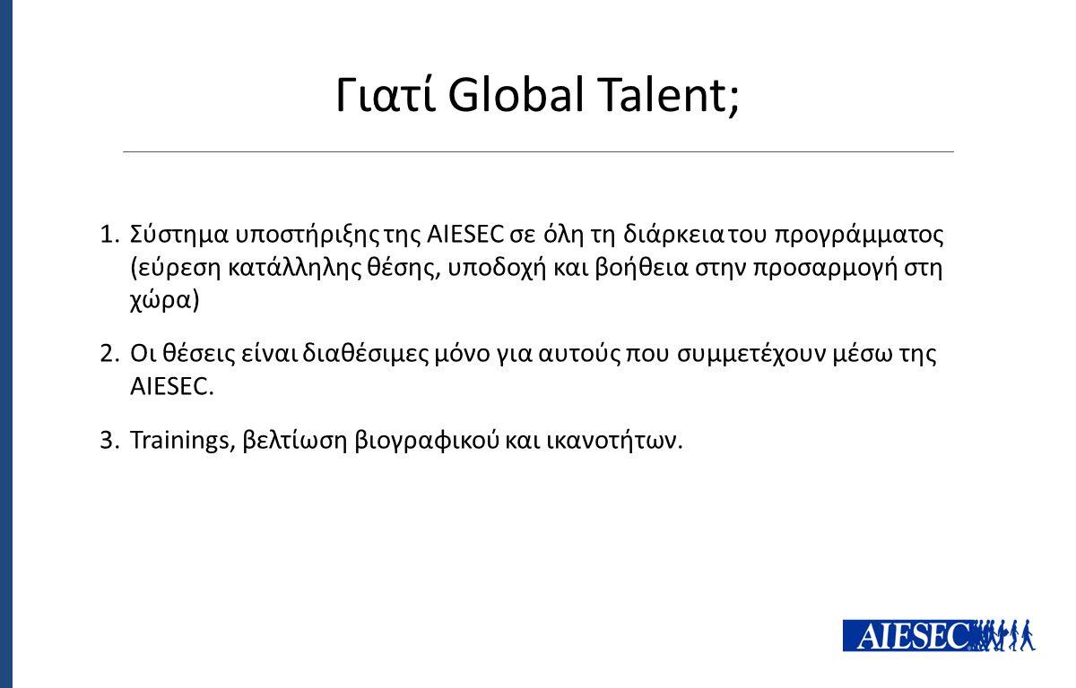Γιατί Global Talent;