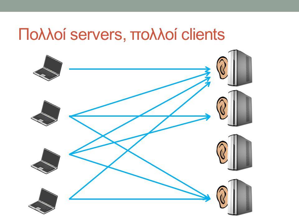 Πολλοί servers, πολλοί clients
