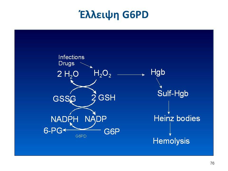 Λειτουργίες G6PD Αναγέννηση του NADPH (glutathione).