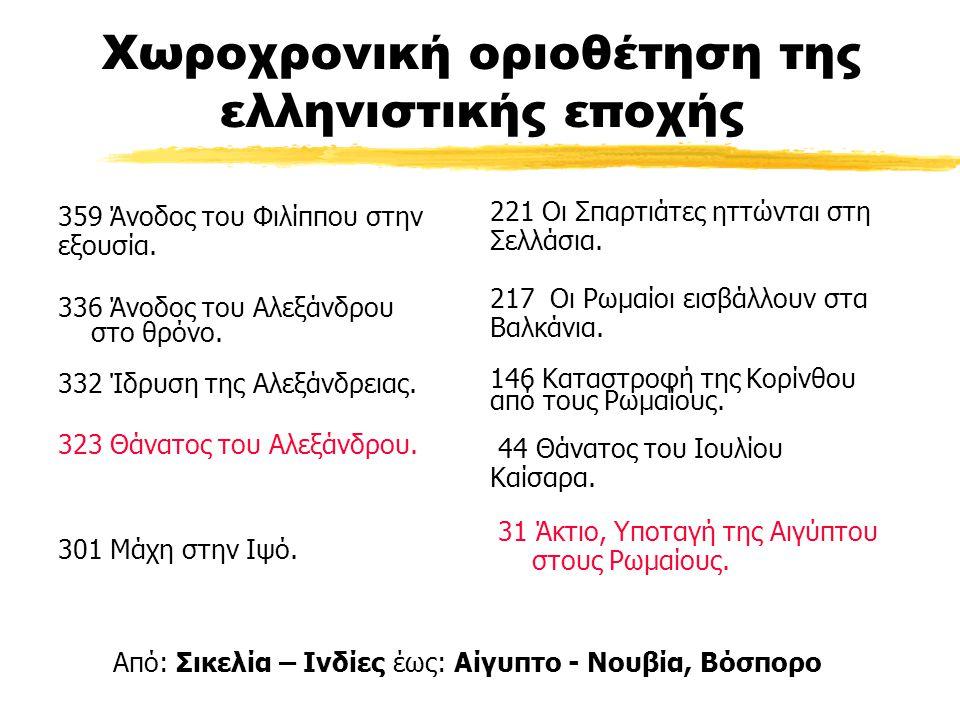 Χωροχρονική οριοθέτηση της ελληνιστικής εποχής