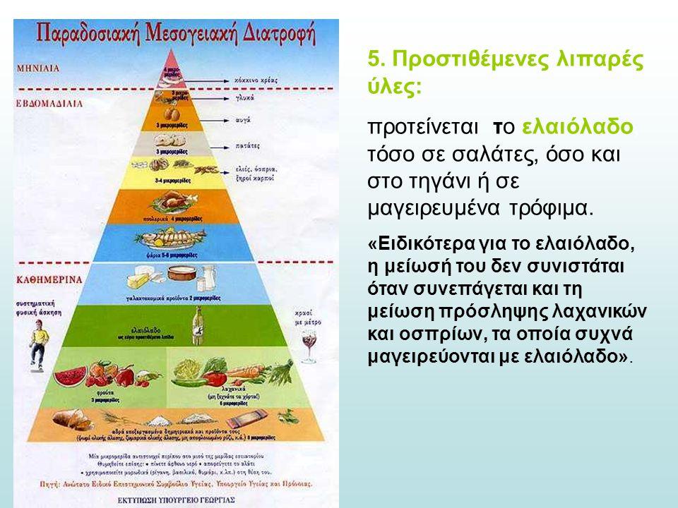 5. Προστιθέμενες λιπαρές ύλες: