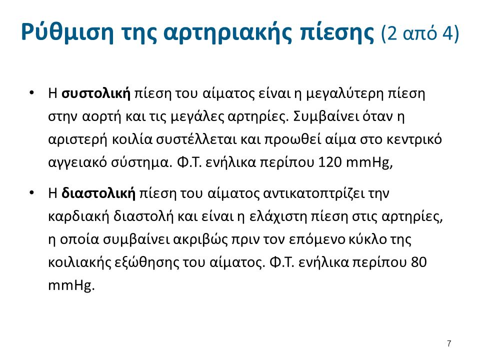 Ρύθμιση της αρτηριακής πίεσης (3 από 4)