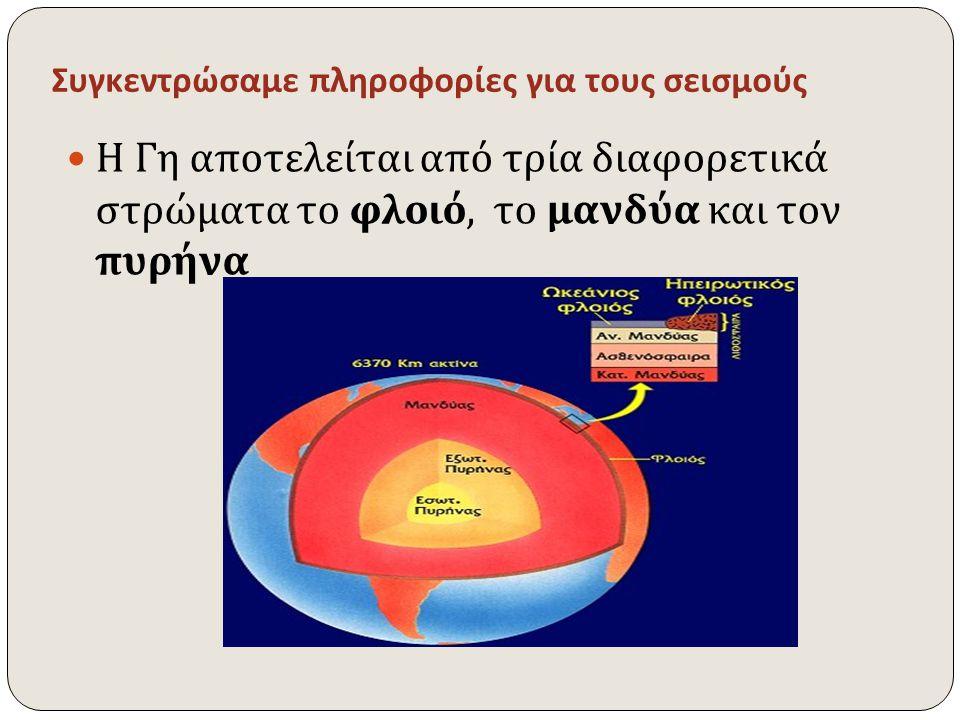 Συγκεντρώσαμε πληροφορίες για τους σεισμούς