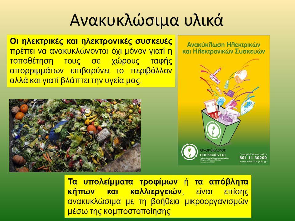Ανακυκλώσιμα υλικά