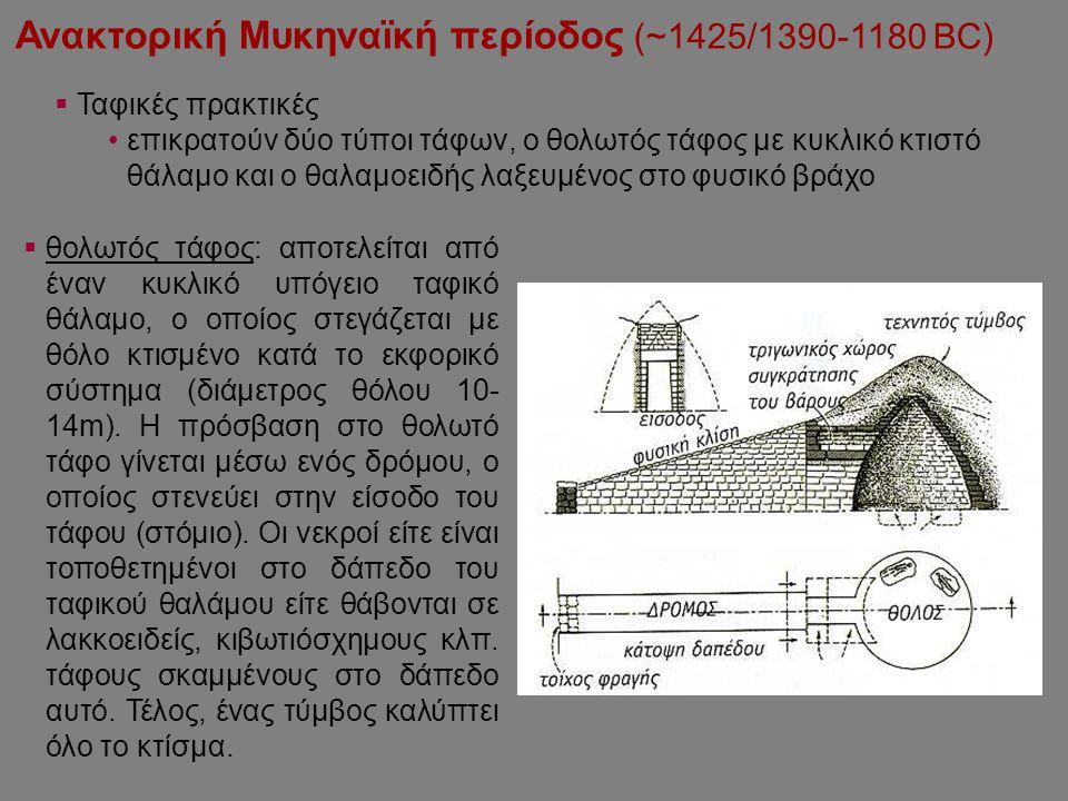 Ανακτορική Μυκηναϊκή περίοδος (~1425/1390-1180 BC)