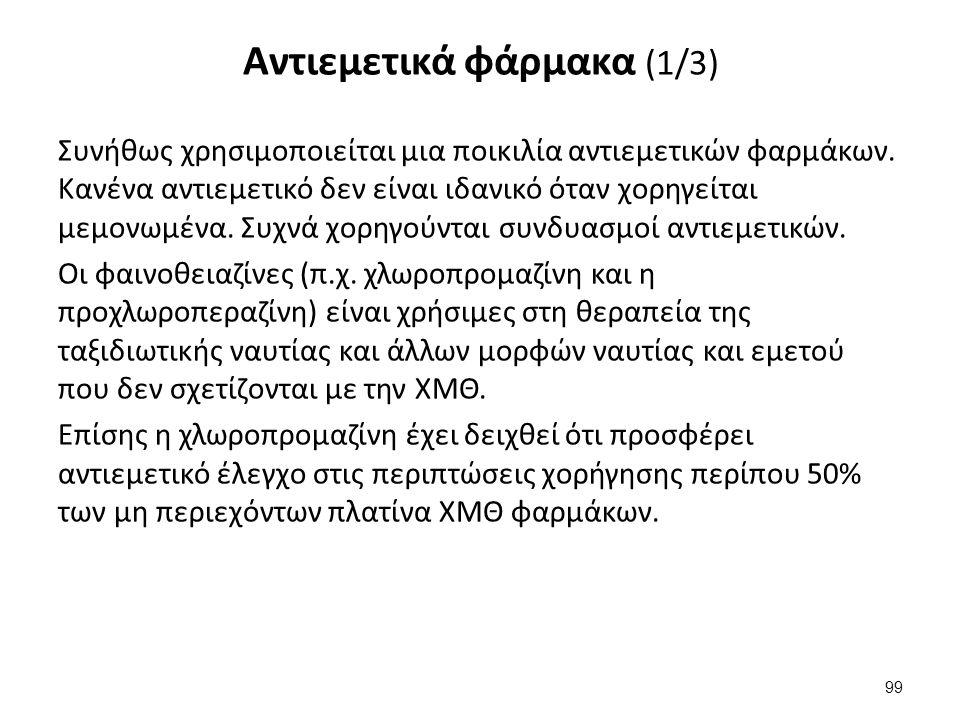 Αντιεμετικά φάρμακα (2/3)