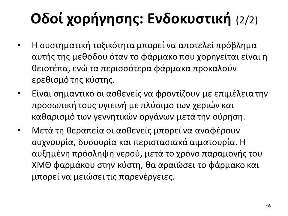 Οδοί χορήγησης: Ενδοραχιαία /ενδοκοιλιακή (1/3)