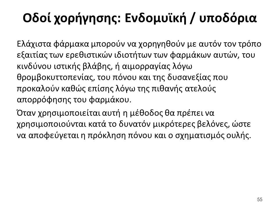 Οδοί χορήγησης: Ενδοφλέβια (1/2)