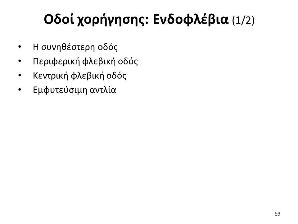 Οδοί χορήγησης: Ενδοφλέβια (2/2)