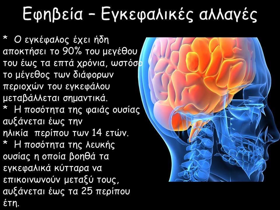 Εφηβεία – Εγκεφαλικές αλλαγές