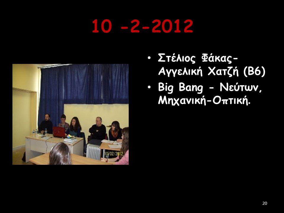 10 -2-2012 Στέλιος Φάκας-Αγγελική Χατζή (Β6)