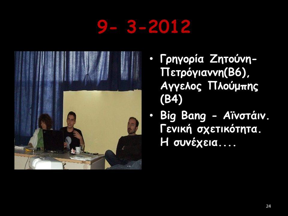 9- 3-2012 Γρηγορία Ζητούνη-Πετρόγιαννη(Β6), Αγγελος Πλούμπης (Β4)