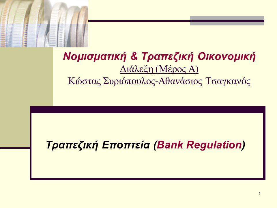 Τραπεζική Εποπτεία (Bank Regulation)