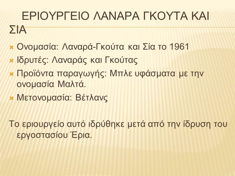 ΕΡΙΟΥΡΓΕΙΟ ΛΑΝΑΡΑ ΓΚΟΥΤΑ ΚΑΙ ΣΙΑ