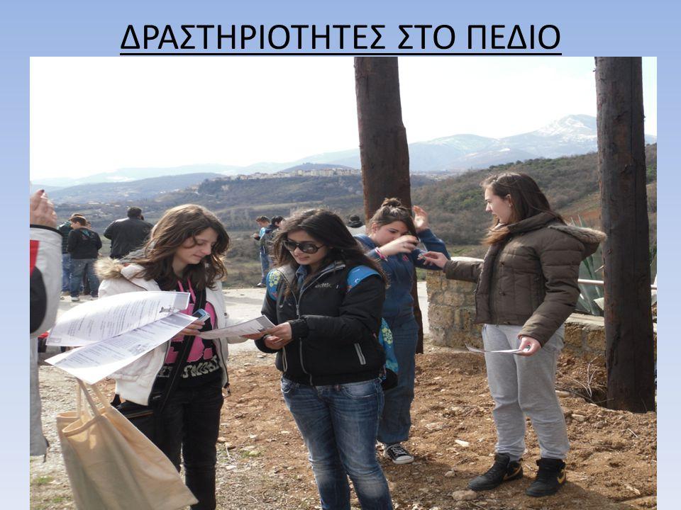 ΔΡΑΣΤΗΡΙΟΤΗΤΕΣ ΣΤΟ ΠΕΔΙΟ