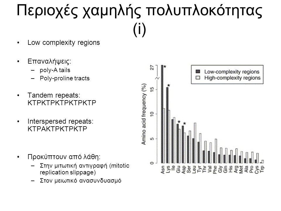 Περιοχές χαμηλής πολυπλοκότητας (i)