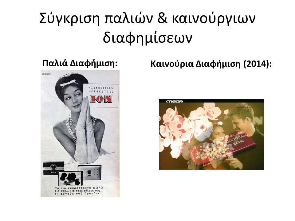 Σύγκριση παλιών & καινούργιων διαφημίσεων