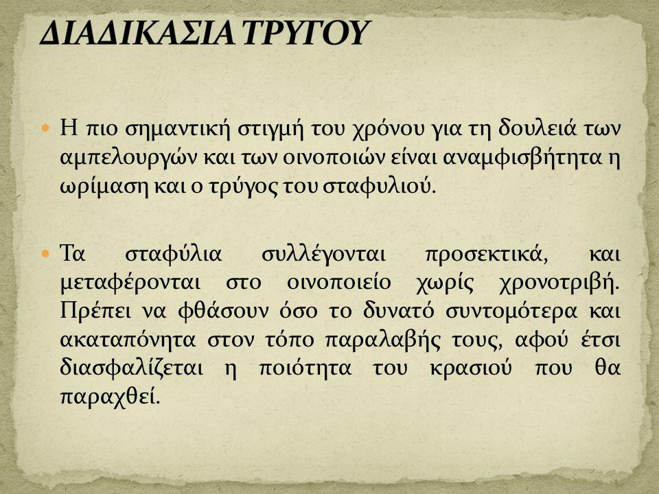 ΔΙΑΔΙΚΑΣΙΑ ΤΡΥΓΟΥ