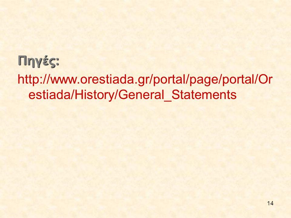 Πηγές: http://www.orestiada.gr/portal/page/portal/Orestiada/History/General_Statements