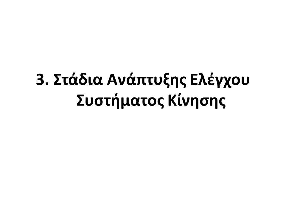 3. Στάδια Ανάπτυξης Ελέγχου Συστήματος Κίνησης